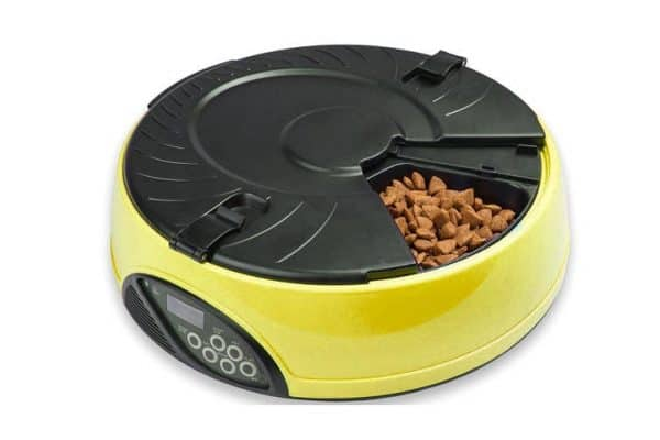 330Ml Per Meal Digital Lcd Automatic Pet Feeder Dog Cat Food Bowl Timer Yellow - Ultimate Dog Gear.jpg