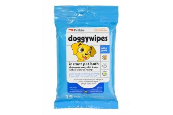 Doggy Wipes Instant Pet Bath for Dogs & Puppies - Petkin - 15 Wipes - Ultimate Dog Gear.jpg