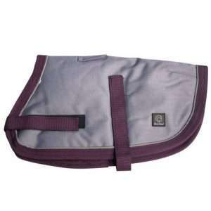 Grey/Burgundy 45cm NightWalker Dog & Puppy Coat/Jacket (Pet One) - Ultimate Dog Gear.jpg