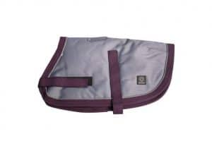 Grey/Burgundy 80cm NightWalker Dog & Puppy Coat/Jacket (Pet One) - Ultimate Dog Gear.jpg