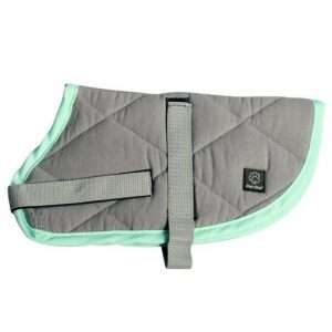 Grey/Turquoise 75cm NightSleeper Dog & Puppy Coat/Jacket (Pet One) - Ultimate Dog Gear.jpg