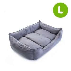 L 92 x 72 x 22cm Pet Suede Sofa HUSK - GREY - Ultimate Dog Gear.jpg