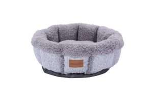 Paws & Claws 50cm x 50cm Large Primo Snuggler Sherpa Pet/Dog Bed/Mattress Grey - Ultimate Dog Gear.jpg