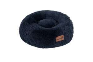 Paws & Claws 50cm x 50cm Small Calming Plush Pet/Dog Round Bed/Mattress Navy - Ultimate Dog Gear.jpg