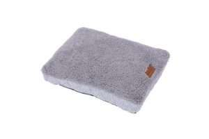 Paws & Claws 60cm x 45cm Small Primo Quilted Sherpa Pet/Dog Bed/Mattress Grey - Ultimate Dog Gear.jpg