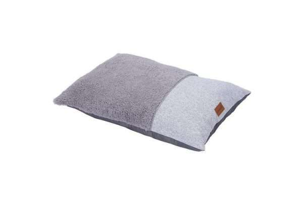 Paws & Claws 65cm x 45cm Small Primo Sherpa Pillow Pet/Dog Bed/Mattress Grey - Ultimate Dog Gear.jpg