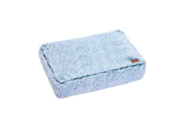 Paws & Claws 80cm x 60cm Large Calming Plush Pet/Dog Washable Bed/Mattress Blue - Ultimate Dog Gear.jpg