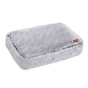 Paws & Claws 80cm x 60cm Large Calming Plush Pet/Dog Washable Bed/Mattress Grey - Ultimate Dog Gear.jpg