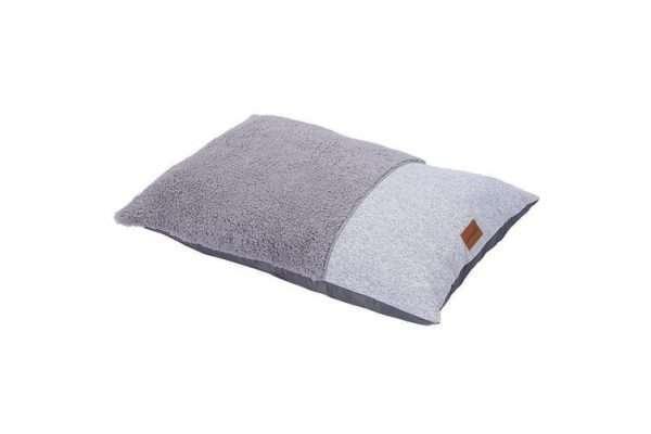 Paws & Claws 90cm x 60cm Medium Primo Sherpa Pillow Pet/Dog Bed/Mattress Grey - Ultimate Dog Gear.jpg