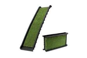 Petscene Folding Dog Ramp Stairs Steps /w Artificial Grass for Car SUV - Ultimate Dog Gear.jpg