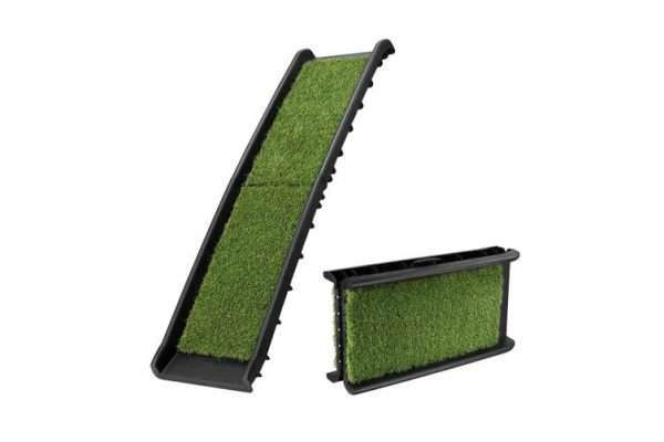 Petscene Folding Dog Ramp Stairs Steps /w Artificial Grass for Car SUV - Ultimate Dog Gear.jpg
