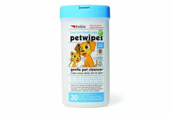 Petwipes for Dogs & Cats Wipes Away Daily Dirt & Odour - Petkin - 30 Wipes - Ultimate Dog Gear.jpg